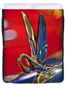 1948 Packard Hood Ornament Duvet Cover by Jill Reger