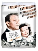 1948 - State Of The Union Motion Picture Poster - Spencer Tracy - Katherine Hepburn - Mgm - Color Duvet Cover
