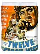 1949 - Twelve O Clock High Movie Poster - Gregory Peck - Dean Jagger - 20th Century Pictures - Color Duvet Cover