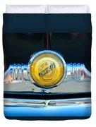 1949 Chrysler Windsor Grille Emblem Duvet Cover