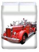 1949 Mack Fire Truck Duvet Cover
