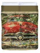 1949 Red Ford Coupe Duvet Cover