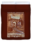 1949 San Francisco Ruins Dominican Republic Stamp Duvet Cover