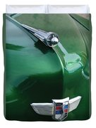 1949 Studebaker Champion Hood Ornament Duvet Cover by Jill Reger