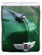 1949 Studebaker Champion Hood Ornament Duvet Cover