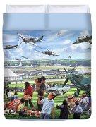 1950 Airshow Duvet Cover