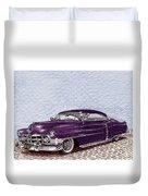 Chopped 1950 Cadillac Coupe De Ville Duvet Cover