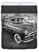 1950 Chevrolet Sedan Deluxe Painted Bw   Duvet Cover