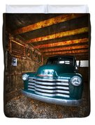 1950 Chevy Truck Duvet Cover by Debra and Dave Vanderlaan