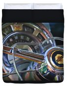 1950 Chrysler New Yorker Coupe Steering Wheel Emblem Duvet Cover