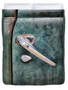 1950 Classic Chevy Pickup Door Handle Duvet Cover by Adam Romanowicz