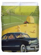 1950 Custom Ford - Square Format Image Picture Duvet Cover