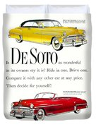 1950 - De Soto Sportsman Convertible - Advertisement - Color Duvet Cover
