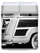 1950 Ford Custom Deluxe Station Wagon Rear End - Woodie Duvet Cover by Jill Reger