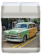 1950 Ford Deluxe Woody Station Wagon Duvet Cover