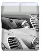 1950 Jaguar Xk120 Roadster Grille 2 Duvet Cover