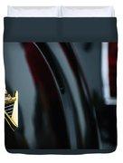 1950 Lincoln Cosmopolitan Henney Limousine Rear Emblem Duvet Cover