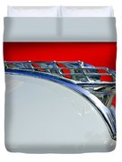 1950 Plymouth Hood Ornament 3 Duvet Cover by Jill Reger