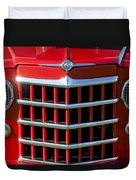 1950 Willys Jeepster Gtille Duvet Cover