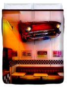 1950s American Diner - Featured In Vehicle Enthusiasts Duvet Cover