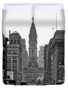 1950s Downtown Philadelphia Pa Usa Duvet Cover