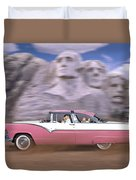 1950s Family Vacation Panoramic Duvet Cover