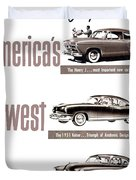 1951 - Kaiser Frazer Manhattan Automobile Advertisement - Color Duvet Cover