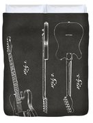 1951 Fender Electric Guitar Patent Artwork - Gray Duvet Cover