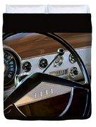 1951 Ford Crestliner Steering Wheel Duvet Cover