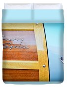 1951 Ford Woodie Country Squire Emblem Duvet Cover