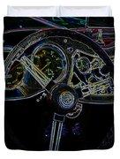 1951 Mg Td Dashboard_neon Car Art Duvet Cover