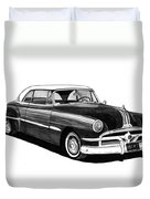1951 Pontiac Hard Top Duvet Cover by Jack Pumphrey