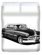 1951 Pontiac Hard Top Duvet Cover