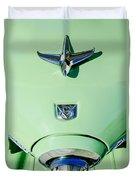 1951 Studebaker Commander Hood Ornament Duvet Cover