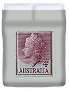 1952-1958 Australia Queen Elizabeth II Stamp Duvet Cover