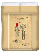 1952 Chanel Lipstick Case 4 Duvet Cover