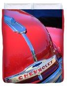 1952 Chevrolet Suburban Hood Ornament Duvet Cover