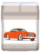 1952 Chrysler Delegance Concept Duvet Cover by Jack Pumphrey