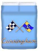 1952 Cunningham C-3 Vignale Cabriolet Emblem Duvet Cover