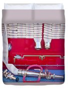 1952 L Model Mack Pumper Fire Truck Hoses Duvet Cover