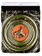 1952 Sterling Gladwin Maverick Sportster Wheel Emblem - 1720c Duvet Cover