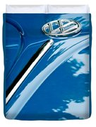 1952 Volkswagen Vw Bug Hood Emblem Duvet Cover