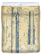 1953 Aerial Missile Patent Vintage Duvet Cover