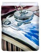 1953 Bentley R-type Hood Ornament - Emblem -0790c Duvet Cover