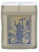 1953 Chile Stamp Duvet Cover