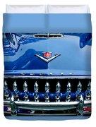 1953 Desoto Firedome Convertible Grille Emblem Duvet Cover