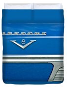 1953 Desoto Firedome Convertible Side Emblem Duvet Cover
