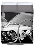 1953 Ferrari 340 Mm Lemans Spyder Steering Wheel Emblem Duvet Cover