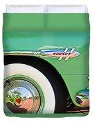 1953 Hudson Hornet Sedan Wheel Emblem Duvet Cover