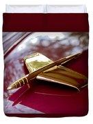 1953 Kaiser Golden Dragon Hood Ornament 3 Duvet Cover